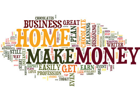 LEARN HOW TO MAKE MONEY FROM HOME TODAY Text Background Word Cloud Concept Illustration