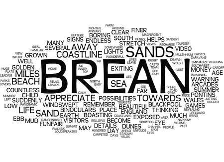 イングランド BREAN テキストの背景単語雲概念の風景  イラスト・ベクター素材
