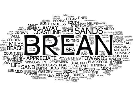 brean: LANDSCAPES OF ENGLAND BREAN Text Background word cloud concept