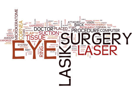 LASIK EYE SURGERY - Text Background Word Cloud Concept