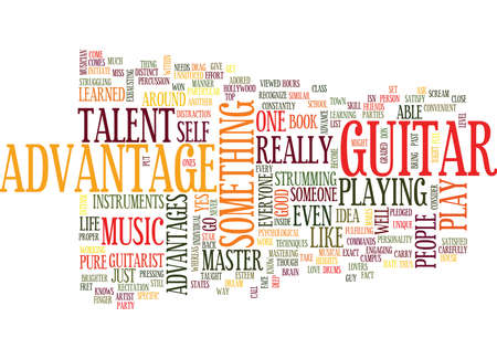 LEARN MASTER GUITAR Text Background Word Cloud Concept
