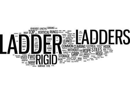 LADDERS 유형 및 사용 텍스트 배경 Word 클라우드 개념 일러스트