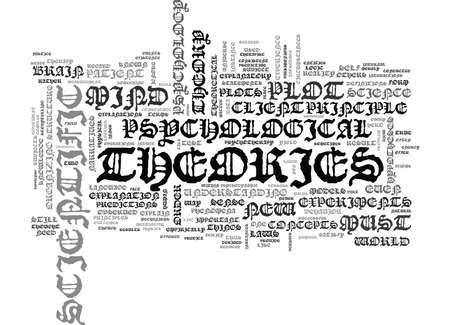 IS PSYCHOLOGY A SCIENCE Text Background Word Cloud Concept Illustration