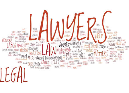 LAWYERS Tekst Achtergrond Word Cloud Concept Stockfoto - 82612737