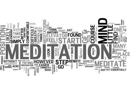 LEARN HOW TO MEDITATE Text Background Word Cloud Concept