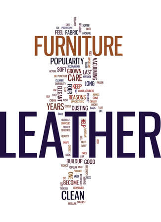 LEATHER FURNITURE Text Background Word Cloud Concept