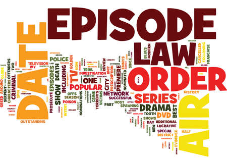 LAW AND ORDER DVD REVIEW Text Background Word Cloud Concept Illustration
