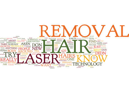 knew: LASERHAIRREMOVAL Text Background Word Cloud Concept