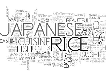 JAPANESE CUISINE Text Background Word Cloud Concept