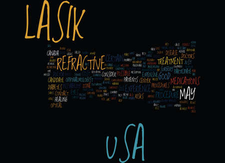 LASIK USA Text Background Word Cloud Concept