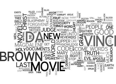 documentation: IS THE DA VINCI CODE CRACKED OR JUST THE PEOPLE WHO BELIEVE IT Text Background Word Cloud Concept Illustration