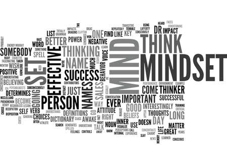 somebody: IS IT MINDSET OR MIND SET Text Background Word Cloud Concept