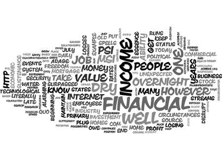 IS YOUR FINANCIAL WELL DEEP ENOUGH Text Background Word Cloud Concept Ilustração