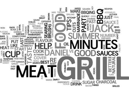 better: JACK DANIEL S TIPS FOR THE SUMMER GRILL Text Background Word Cloud Concept