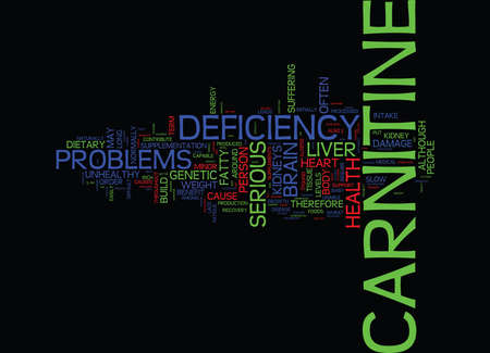 L CARNITINE DEFICIENCY Text Background Word Cloud Concept
