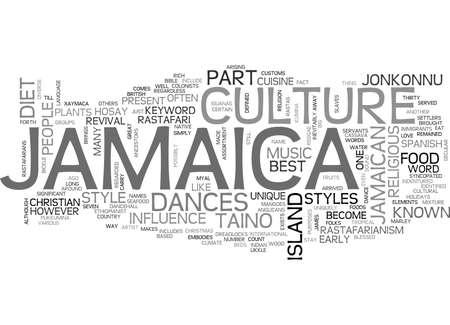 CULTURA DI JAMAICA Concetto di testo Concetto di nube di parola Archivio Fotografico - 82591970