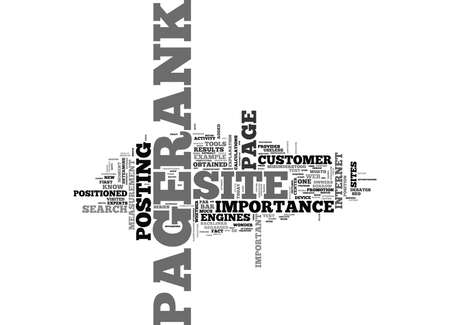 IS PAGERANK THAT IMPORTANT Text Background Word Cloud Concept