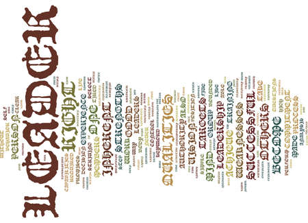 LEADER Text Background Word Cloud Concept