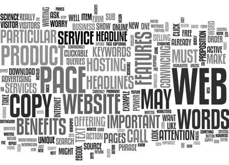 IS YOUR WEBSITE S COPY UP TO THE MARK Text Background Word Cloud Concept Illustration