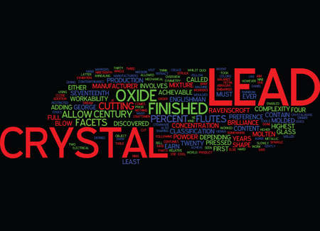 LEAD CRYSTAL A BRIEF OVERVIEW Text Background Word Cloud Concept