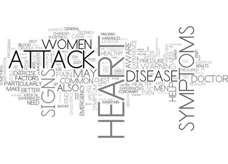 IS IT A HEART ATTACK SIGNS AND SYMPTOMS Text Background Word Cloud Concept