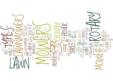 LAWN MOWERS Text Background Word Cloud Concept