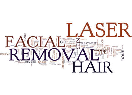 LASER FACIAL HAIR REMOVAL IS EASY AND EFFECTIVE Text Background Word Cloud Concept