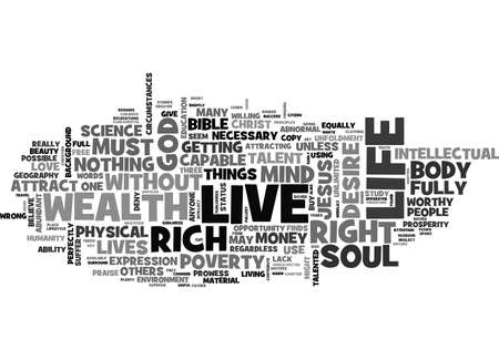 IS IT GOD S WILL TO BE WEALTHY Text Background Word Cloud Concept