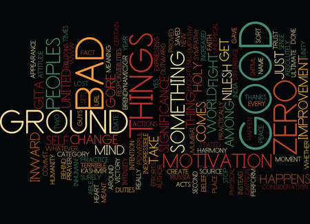 GROUND ZERO THE INWARD SIGNIFICANCE Text Background Word Cloud Concept