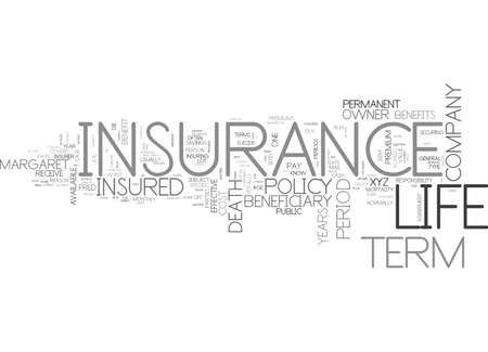 IS TERM INSURANCE RIGHT FOR YOU Text Background Word Cloud Concept