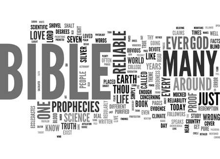 IS THE BIBLE RELIABLE Text Background Word Cloud Concept