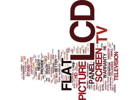 hdmi: LCD TV CHECKLIST ARE YOU PREPARED Text Background Word Cloud Concept