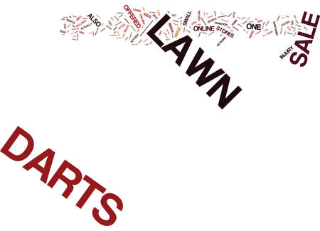 LAWN DARTS FOR SALE Text Background Word Cloud Concept