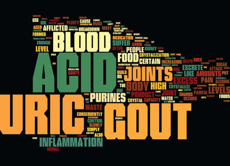 LEARN ABOUT GOUT AND SIMPLE WAYS TO TREAT IT Text Background Word Cloud Concept Illustration