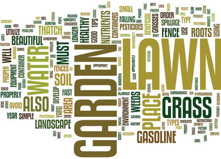 absorbed: LAWN AND GARDEN SIMPLE TIPS FOR SUCCESS Text Background Word Cloud Concept
