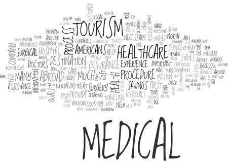 IS MEDICAL TOURISM FOR YOU Text Background Word Cloud Concept Illustration