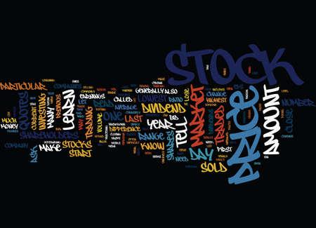 LERNEN SIE ZU LESEN STOCK MARKET QUOTES SEIN NICHT SCHWIERIG Text Hintergrund Word Cloud Concept Standard-Bild - 82591902