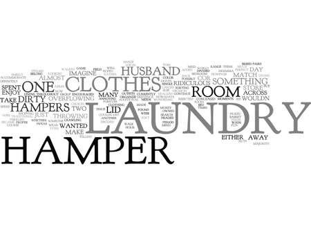 LAUNDRY HAMPER Text Background Word Cloud Concept Ilustração