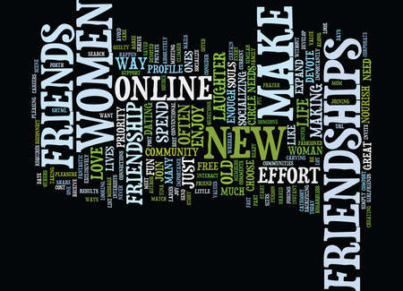 LADIES DO YOU HAVE ENOUGH LOVE LAUGHTER OR FRIENDS IN YOUR LIFE Text Background Word Cloud Concept