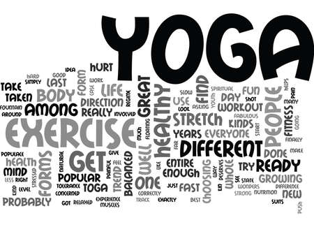 IS YOGA FOR YOU Text Background Word Cloud Concept