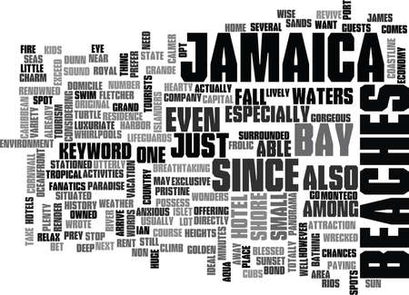 JAMAICA BEACHES Text Background Word Cloud Concept
