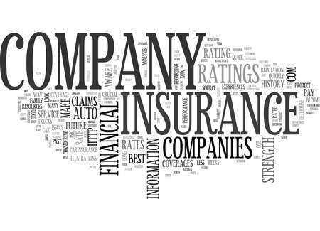 IS YOUR AUTO INSURANCE COMPANY RATED Text Background Word Cloud Concept