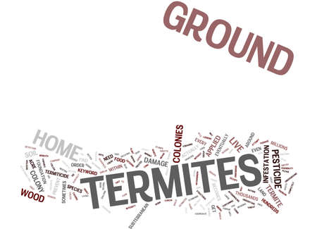 GROUND TERMITES Text Background Word Cloud Concept