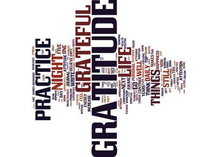 GRATITUDE IMPROVES YOUR ATTITUDE Text Background Word Cloud Concept
