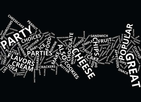 GREAT APPETIZERS FOR BABY SHOWERS AND OTHER PARTIES Text Background Word Cloud Concept