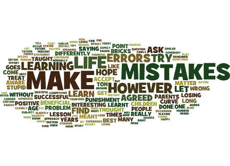 heard: LEARN FROM THE MISTAKES YOU MAKE Text Background Word Cloud Concept