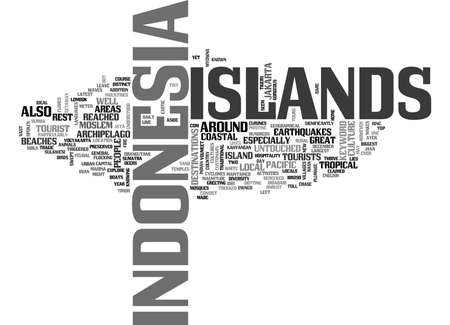 ISLANDS OF INDONESIA Text Background Word Cloud Concept