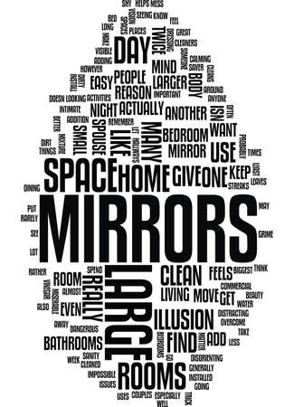 LARGE MIRRORS Text Background Word Cloud Concept