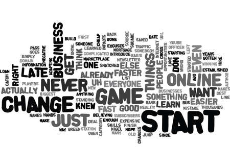 IT S NEVER TOO LATE TO START Text Background Word Cloud Concept