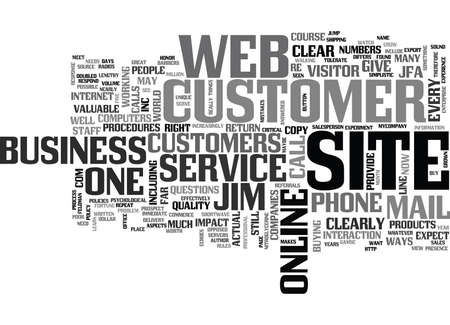 IS YOUR ON LINE BUSINESS CUSTOMER FRIENDLY Text Background Word Cloud Concept